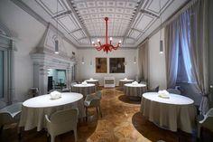 Michelin star restaurants at Milan | Contraste restaurant interior design | Italian Food | See more Milan restaurants awarded with Michelin stars http://www.milandesignagenda.com/best-milan-restaurants-discover-michelin-star-winners-iii/