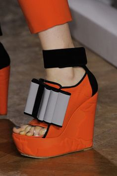 "mulberry-cookies:  "" Shoes @ John Galliano S/S 2014 (details)  """