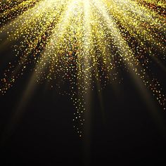 Decorative background with golden glitter Free Vector