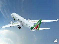 Alitalia introduces its new brand, new aircraft livery and new visual identity A330 Airbus & Boieng