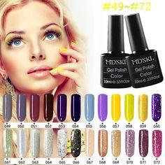 MDSKL 132 Colors Gel Nail Polish LED UV Gel Long-lasting Soak-off Gel Varnishes Beauty Lasting UV Gel Colorful Polishes Art  Price: 1.06 USD