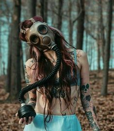 More at Mike Vands 😈 Gas Mask Girl, Masks Art, Cybergoth, Dark Photography, Mad Max, Dark Beauty, Inked Girls, Girl Tattoos, Fantasy Art