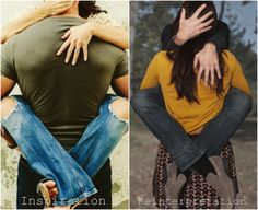 This HILARIOUS engagement session reinterprets all those oh-so-familiar couple poses... HA!!!