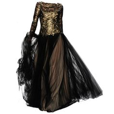 TADASHISHOJI26 -Editado por dehti ❤ liked on Polyvore featuring dresses, gowns, long dress, 13. dresses., vestidos, kohl dresses, black ball gown, black gown, long black evening dresses y long black dress