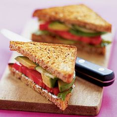 This veggie-friendly ALT (Avocado, Lettuce and Tomato) Sandwich provides healthy monounsaturated fats. | http://www.health.com/health/gallery/0,,20395687,00.html
