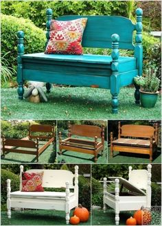 Sweet Dreams Repurposed Garden Bench