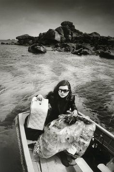 Debbie Harry, Travelling to the Scilly Isles for video clip Island of Lost Souls, 1982. Photo by Brian Arris