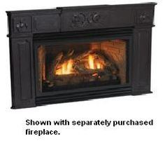 Empire Traditional Black Cast Iron Fireplace Insert Surround - For Small Innsbrook Fireplace Inserts