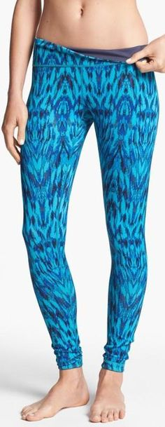 Bright Blue Reversible Leggings!