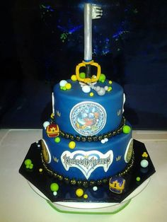 Kingdom Hearts Cake | omfg I need this for my bday!!!