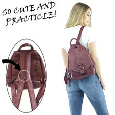 Phoebe backpack Here is a fantastic practical backpack convertible to shoulder bag thanks to a simple zippered strap. It has a unique shape and a remarkable storage capacity. Diy Backpack, Leather Backpack, Fashion Backpack, Leather Wallet Pattern, Bag Patterns To Sew, Denim Bag, Handmade Bags, School Bags, Purses And Bags