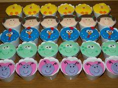Mini cupcakes Galinha Pintadinha