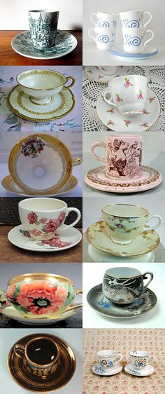 After Easter dinner, a cup of ... GVS and Ecochic goodies! by Ruth on Etsy--Pinned with TreasuryPin.com