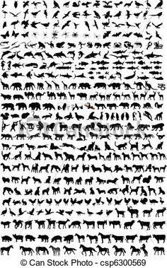 Wektor - Wysoki, jakość, Zwierzęta, sylwetka - zbiory ilustracji, ilustracje royalty free, zbiory ikon klipart, zbiór ikon klipart, logo, sztuka, obrazy EPS, obrazki, grafika, grafik, rysunki, rysunek, obrazy wektorowe, projekt graficzny, EPS wektor graficzny