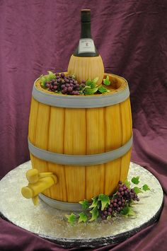 Wine Themed Cake