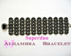 Tutorial Superduo Alhambra Bracelet Pattern Twin beads Super Duo beads Two Hole beads Seed Beads