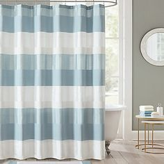 Briony Shower Curtain In Aqua