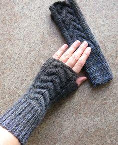 Fingerless Gloves Ledies Knit Mittens Gloves Grey Women's Gloves Arm Warmers Woolen Hand Knitted Fingerless Gloves Wrist Warmers Soft Gift