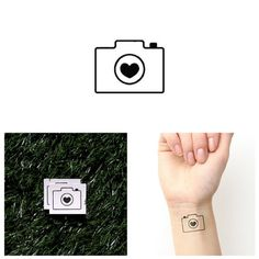Tattify Heart Temporary Tattoo - In Focus (Set of 2) - Other Styles Available - Fashionable Temporary Tattoos - Long Lasting and Waterproof -- Check out this great product. (As an Amazon Associate I earn from qualifying purchases)