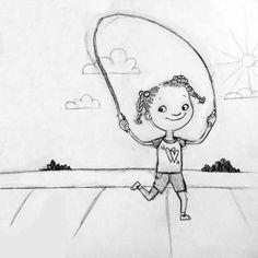 Jumping Rope! Sketch - Angie Jones Illustration
