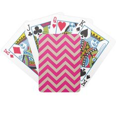 Deals Pink Chevron Graphic Customize Bicycle Playing Cards lowest price for you. In addition you can compare price with another store and read helpful reviews. Buy