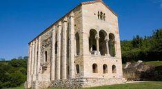 Este foto es de un ejemplo otro de arquitectura común pre-Romanesque estilo en Asturia, Spain