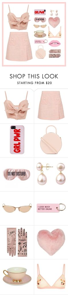 """Worldwide Pink"" by lanadelnae ❤ liked on Polyvore featuring Faithfull, Boutique Moschino, Mansur Gavriel, BaubleBar, A B Davis, Linda Farrow, Various Projects, Gucci, Nordstrom Rack and Topshop"