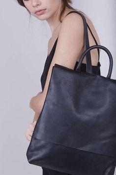e01ef343cf8 Black Soft Leather Backpack, Unique Laptop Bag, Satchel Bag, Mac Padded Bag,  Unisex Bags, School Bag, Office Bag, Zipper Bag - Big Ari