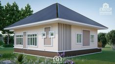 10 Contemporary House Designs With Floor Plan Perfect for Modern Family Modern Bungalow House, Bungalow House Plans, Small House Plans, Contemporary House Plans, Contemporary Style Homes, Contemporary Bedroom, Single Floor House Design, Small House Design, House Floor
