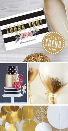 These stunning thank you cards are from a matching designer invitation range called 'Gold Spark'. Black and white stripes, with a touch of floral and a sprinkle of gold glitter is a great party theme for your next event! Invitation Design, Invitations, Birthday Thank You Cards, Paper Divas, Gold Birthday, Gold Party, Touch Of Gold, Gold Glitter, Sprinkles