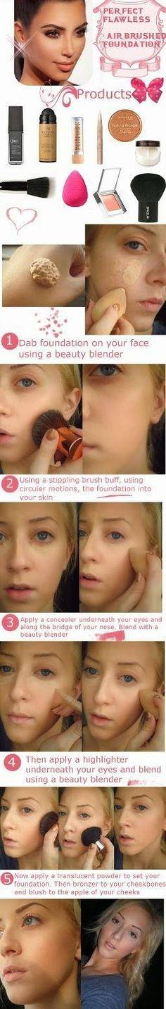 Makeup Tricks : Perfect Flawless Air Brushed Found...