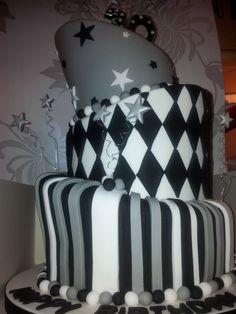 Topsy turvy male cake