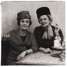 Diane Arbus - Two Ladies at the Automat, N.Y.C., 1966 - Gelatin silver print, printed later by Neil Selkirk. 14 1/2 x 14 1/2 in. (36.8 x 36.8 cm).