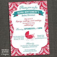Baby Shower Invitation - Perfect for Fertility or Adoption - Printable or Printed for you on Etsy, $15.00