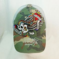 Front - Embroidered New York City, Skull, Eagle Wings. Cap Is Dirty, Stained, Not Pristine Clean. Mesh Style Cap. Well Worn, Out Of Shape.   eBay!