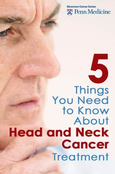 Learn about head and neck cancer, treatment and prevention. #cancer