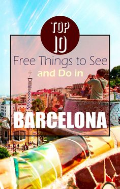 Luckily for you guys, those who are lacking adequate funds to travel, we have assembled a list of 10 Free Things to See and Do in Barcelona. Oh The Places You'll Go, Places To Travel, Barcelona Things To Do In, Madrid, Barcelona Travel, Backpacking Europe, Spain And Portugal, Free Things, Future Travel