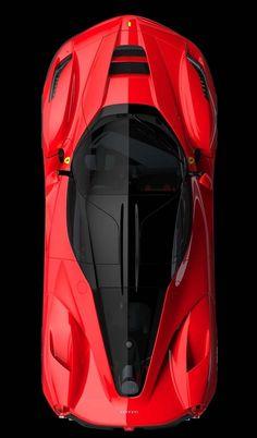 ♂ red car Ferrari Laferrari