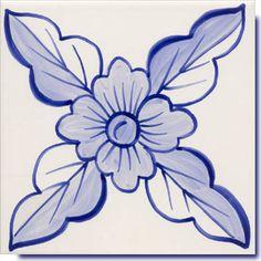 delft blue tile  -  maybe an applique quilt block?