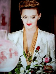 Bette Davis. Her lipstick was known as Whorehouse Red.