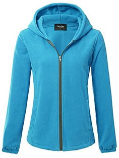 Buy Women Ultra Soft Fleece Long Sleeve Hoodie Jacket - - and Find More Women's Sports Sweatshirts & Hoodies enjoy up to off. Blue Hoodie, Hoodie Jacket, Sports Sweatshirts, Hoodies, Long Jackets, Jackets For Women, Golf Outfit, Outdoor Outfit, Quilted Jacket
