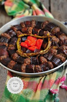 Baked Eggplant Kebab - Hayat Cafe Easy Recipes - eggplant kebab in the oven - Turkish Kebab, Meat Recipes, Cooking Recipes, Baked Eggplant, Iftar, Turkish Recipes, Easy Meals, Food And Drink, Favorite Recipes