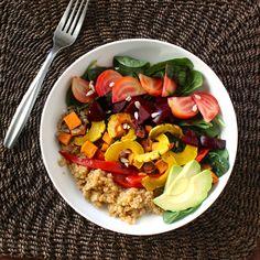 Roasted Roots Rainbow Salad-Borrowed Salt