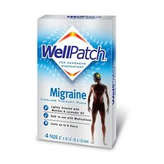 WellPatch Migraine Cooling Patches Menthol & Lavender Oil