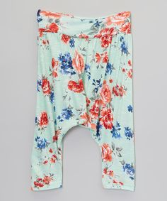 Love this Aqua Island Bouquet Harem Pants - Infant, Toddler & Girls by Pretty Me on #zulily! #zulilyfinds