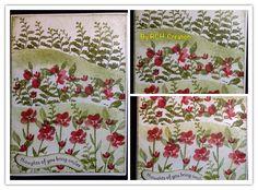 Cascading flower landscape Cascading Flowers, Flower Landscape, Just For You, How To Make, Cards, Handmade, Design, Decor, Hand Made