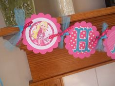 Hey, I found this really awesome Etsy listing at https://www.etsy.com/listing/155826336/barbie-banner-barbie-hot-pink-and