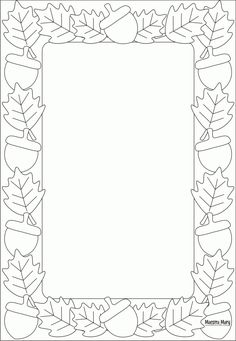 Fall Paper Crafts, Diy Paper, Borders For Paper, Borders And Frames, Dremel Carving, Border Templates, Christmas Coloring Pages, Christmas Clipart, Watercolor Bird