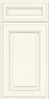Door Detail - Square Raised Panel - Solid (AA5M) Maple in Pebble Grey w/ Coconut Glaze - KraftMaid Cabinetry