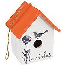 Buy Thoughtful Gardener Wooden Bird House Online at johnlewis.com